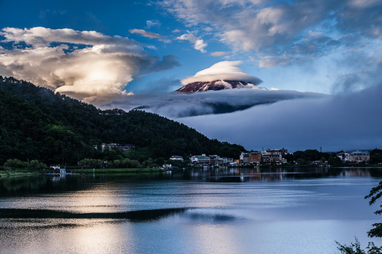 Surreal Mt Fuji apearance, Japan
